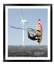 Wind power, Framed Mounted Print