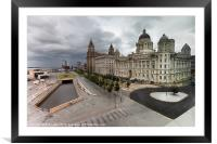 Liverpool Pier Head, HDR, Framed Mounted Print