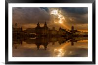Liverpool morning, Framed Mounted Print