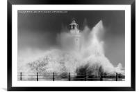 Water explosion, Framed Mounted Print