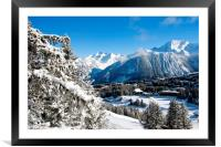 Courchevel 1850 3 Valleys Alps France, Framed Mounted Print
