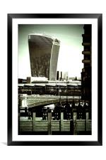 20 Fenchurch Street Walkie-Talkie Building London, Framed Mounted Print