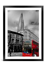 The Shard London Bridge Tower England, Framed Mounted Print