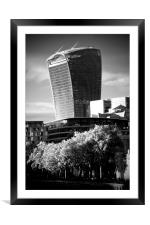 20 Fenchurch Street Walkie-Talkie Building, Framed Mounted Print