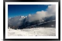 Courchevel 1850 3 Valleys French Alps France, Framed Mounted Print