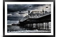 Brighton Pier amidst the storm, Framed Mounted Print