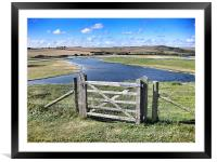 The Meandering Cuckmere Haven, Framed Mounted Print