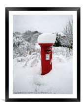 Snow Topped Post Box, Framed Mounted Print