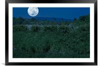 Supermoon Theme, Framed Mounted Print