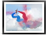 Break ! Red Arrows - Dunsfold 2012, Framed Mounted Print