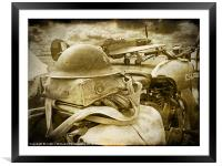 The Battle Of Britain is About to Begin - 1940, Framed Mounted Print
