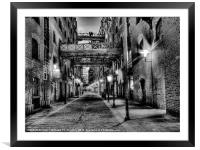 Shad Thames - London, Framed Mounted Print