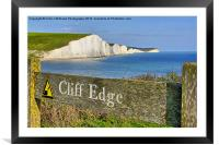 Clff Edge - Seven Sisters, Framed Mounted Print