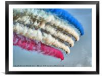 Cookin On Gas !! - The Red Arrows - Duxford 26.05., Framed Mounted Print