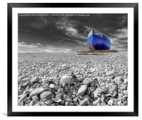 Fishing Boat - Goring By Sea, Framed Mounted Print