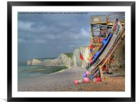 Seven Sisters And The Birling Gap, Framed Mounted Print
