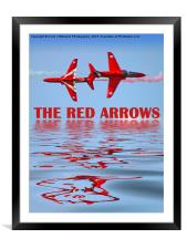 Synchro Reflections - The Red Arrows, Framed Mounted Print