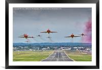 The Red Arrows Take Off - Farnborough Airshow , Framed Mounted Print