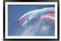 Looping Through Cloud - The Red Arrows., Framed Mounted Print