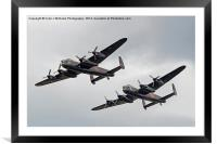The Two Lancasters - Dunsfold Wings And Wheels, Framed Mounted Print
