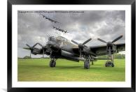 3 Lancasters - East Kirkby Flypast, Framed Mounted Print