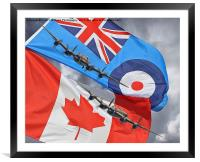 The 2 Lancasters Tour - 2014, Framed Mounted Print