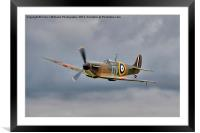 Guy Martin`s Spitfire 1, Framed Mounted Print