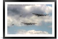 The Two Lancasters Tour - Dunsfold 2014, Framed Mounted Print