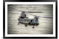 Chinook as Seen From Beachy Head - Airbourne 2014, Framed Mounted Print