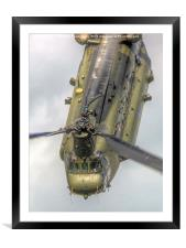 RAF Odiam Display Chinook 1 - Dunsfold 2014, Framed Mounted Print