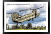 RAF Odiam Display Chinook 3 - Dunsfold 2014, Framed Mounted Print