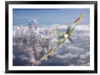 Out Of The Clouds - We Remember Them -  75 years , Framed Mounted Print