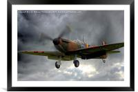 Guy Martin`s Spitfire on Finals Duxford 2015 2, Framed Mounted Print