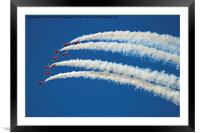 The Red Arrows RIAT 2015 5, Framed Mounted Print