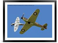 Hurricane And Spitfire 4, Framed Mounted Print