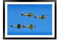Hurricane And Spitfire 5, Framed Mounted Print
