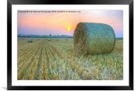 Bales at Sunset 2, Framed Mounted Print