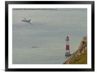 Vulcan XH558 from Beachy Head 8, Framed Mounted Print