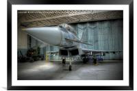Eurofighter Typhoon At Rest , Framed Mounted Print
