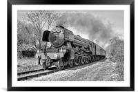 The flying Scotsman on the  KWVR - 1 BW, Framed Mounted Print