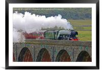 Flying Scotsman At The Ribblehead Viaduct 2, Framed Mounted Print