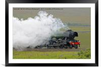 Flying Scotsman At The Ribblehead Viaduct 3, Framed Mounted Print