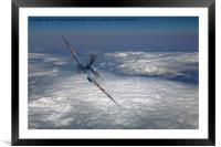 Spitfire in the Clouds 2, Framed Mounted Print