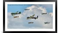 The Battle Of Britain Memorial Flight  RIAT 2018 1, Framed Mounted Print