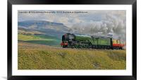 Tornado 60163 and Pen-y-Ghent Yorkshire - 1, Framed Mounted Print