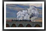 Steam Over The Ribblhead Viaduct - 4, Framed Mounted Print