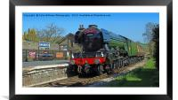 The Flying Scotsman At Oakworth Station., Framed Mounted Print