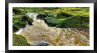 The Strid  Bolton Abbey, Framed Mounted Print