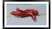The Red Arrows Synchro Pair At Flying Legends, Framed Mounted Print