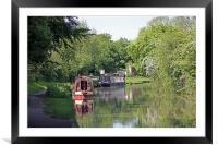 Houseboats on Oxford Canal, Framed Mounted Print